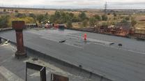 Гидроизоляция крыши завода (наплавляемая)